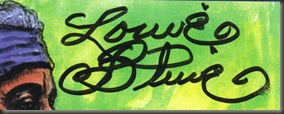 Louie Bluie ...  autograph, close-up/bb