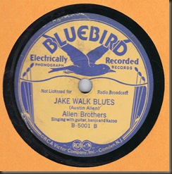 Bluebird B-5001  Allen Brothers Jake Walk Blues/bb