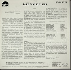 Jake Walk Blues, reverse, Stash ST-110/bb