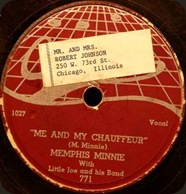 Old address label on Memphis Minnie 78 (THE RJ? ...doubtful)