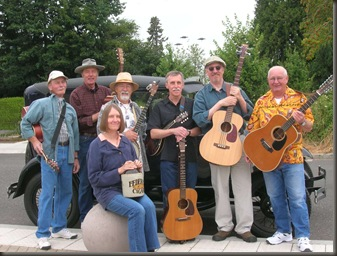 L to R... Jerry, Ray, Susan, Bob, Ernie, Bill, Hoot - Federal Cigar Jug Band