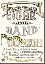 Federal Cigar Jug Band poster, circa 1968 - Bob Bailey/bb