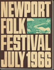 1966 Newport Folk Festival souvenir booklet/bb