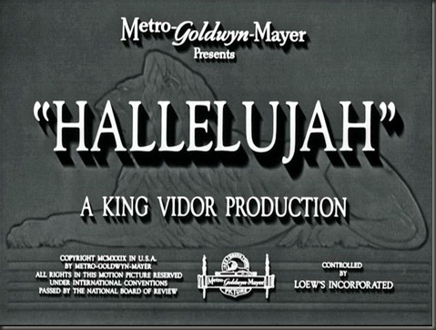 Hallelujah opening screen