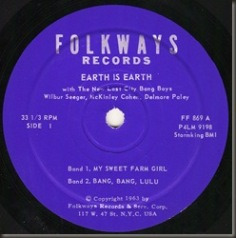 Earth To Earth side one label/bb