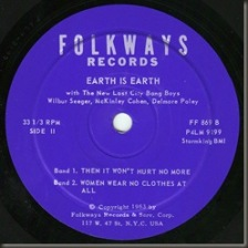 Earth To Earth side two label/bb