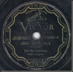 """Jake Leg Wobble"" The Ray Brothers/bb"